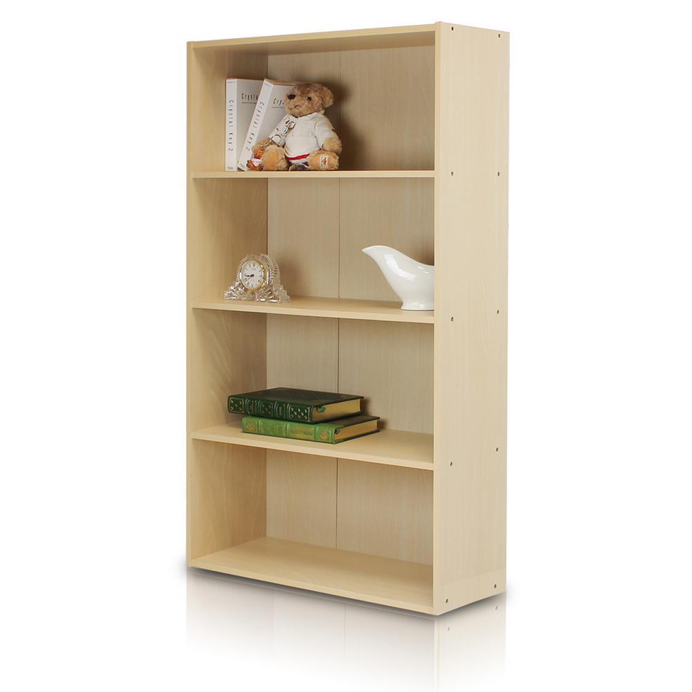 Furinno Pasir 4- Shelf Steam Beach Bookcase w/ open shelves