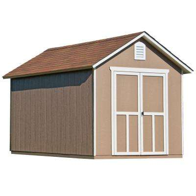 Meridian 8 ft. x 12 ft. Wood Storage Shed with Floor