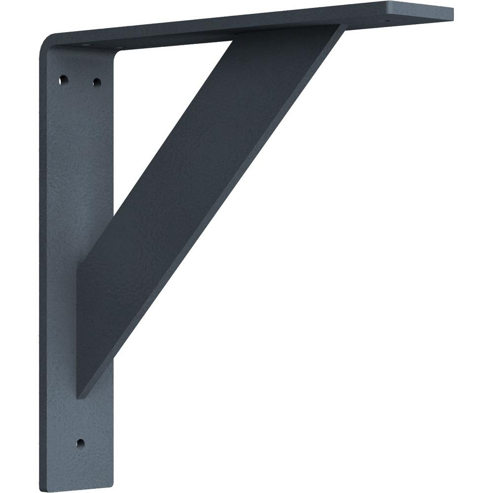 Ekena Millwork 2 in. x 10 in. x 10 in. Steel Hammered Gray Traditional Bracket