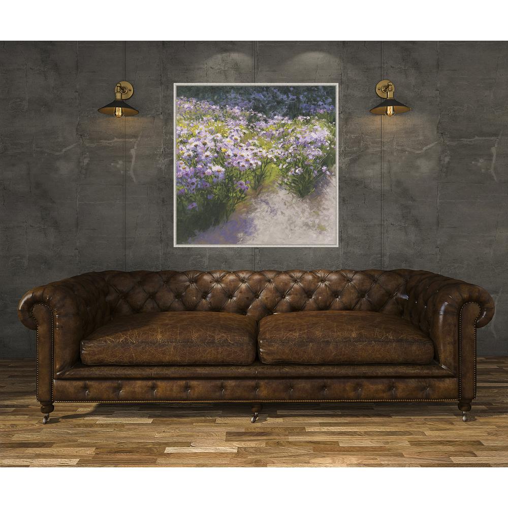 36.25 in. x 36.25 in. 'Buckhorn Astor Show' by Shirley Novak Fine Art Canvas Framed Print Wall Art