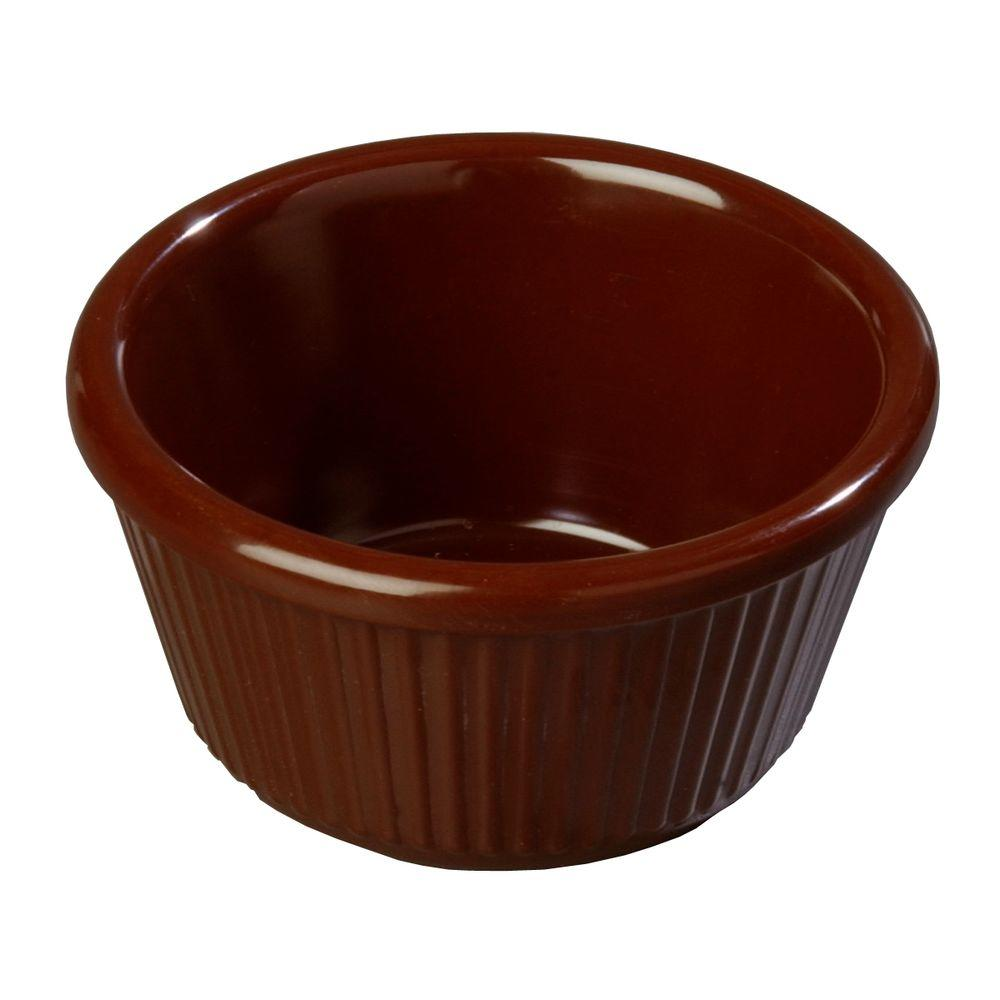 4 oz. Melamine Fluted Ramekin in Chocolate Brown (Case of 48)