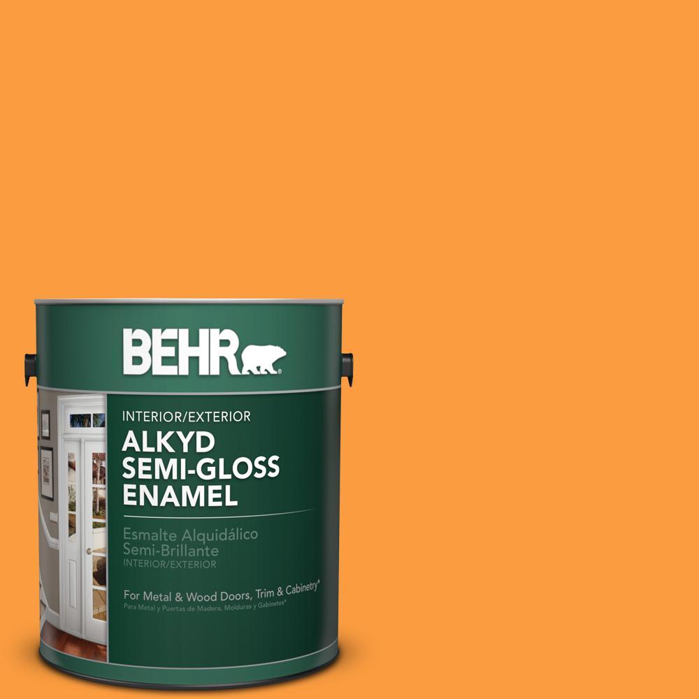 1 gal. #P240-6 Exotic Blossom Semi-Gloss Enamel Alkyd Interior/Exterior Paint