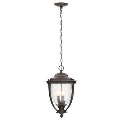 Prestwick Collection 3-Light Oil-Rubbed Bronze Outdoor Mount Hanging Lantern