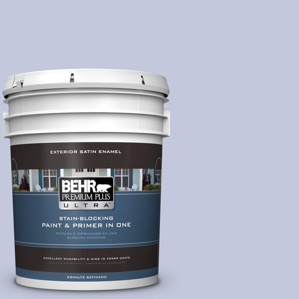 BEHR Premium Plus Ultra 5-gal. #600E-3 Icy Brook Satin Enamel Exterior Paint