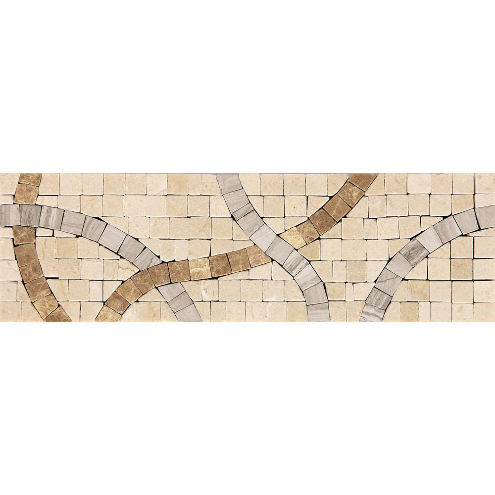 Stone Decorative Accents Confetti Parade 2-3/4 in. x 9-1/4 in. Marble