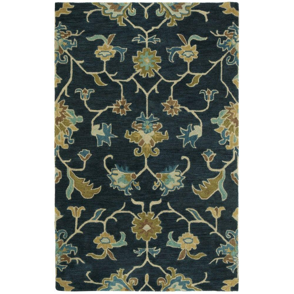 Montpellier Navy (Blue) 5 ft. 3 in. x 8 ft. 3 in. Area Rug