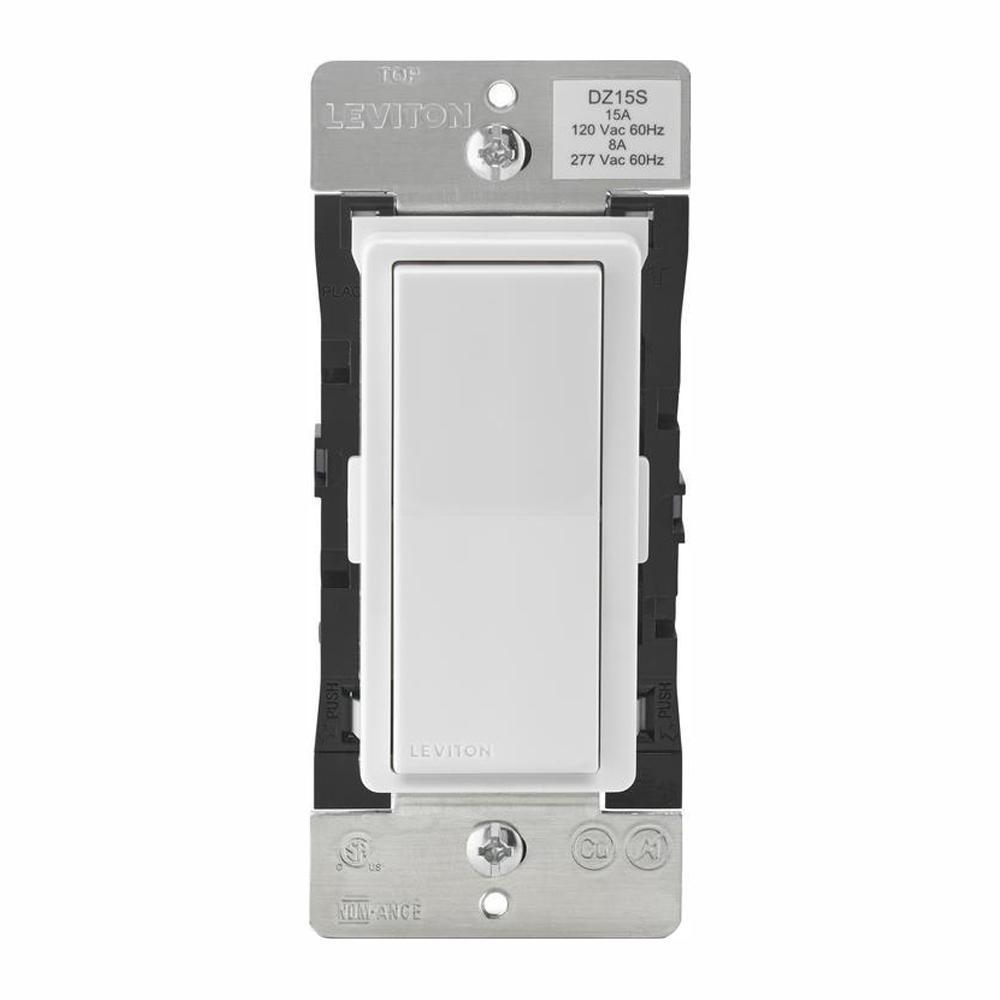 Leviton Decora Smart with Z-Wave Technology 15 Amp Switch, White/Light  Almond (3-Pack)