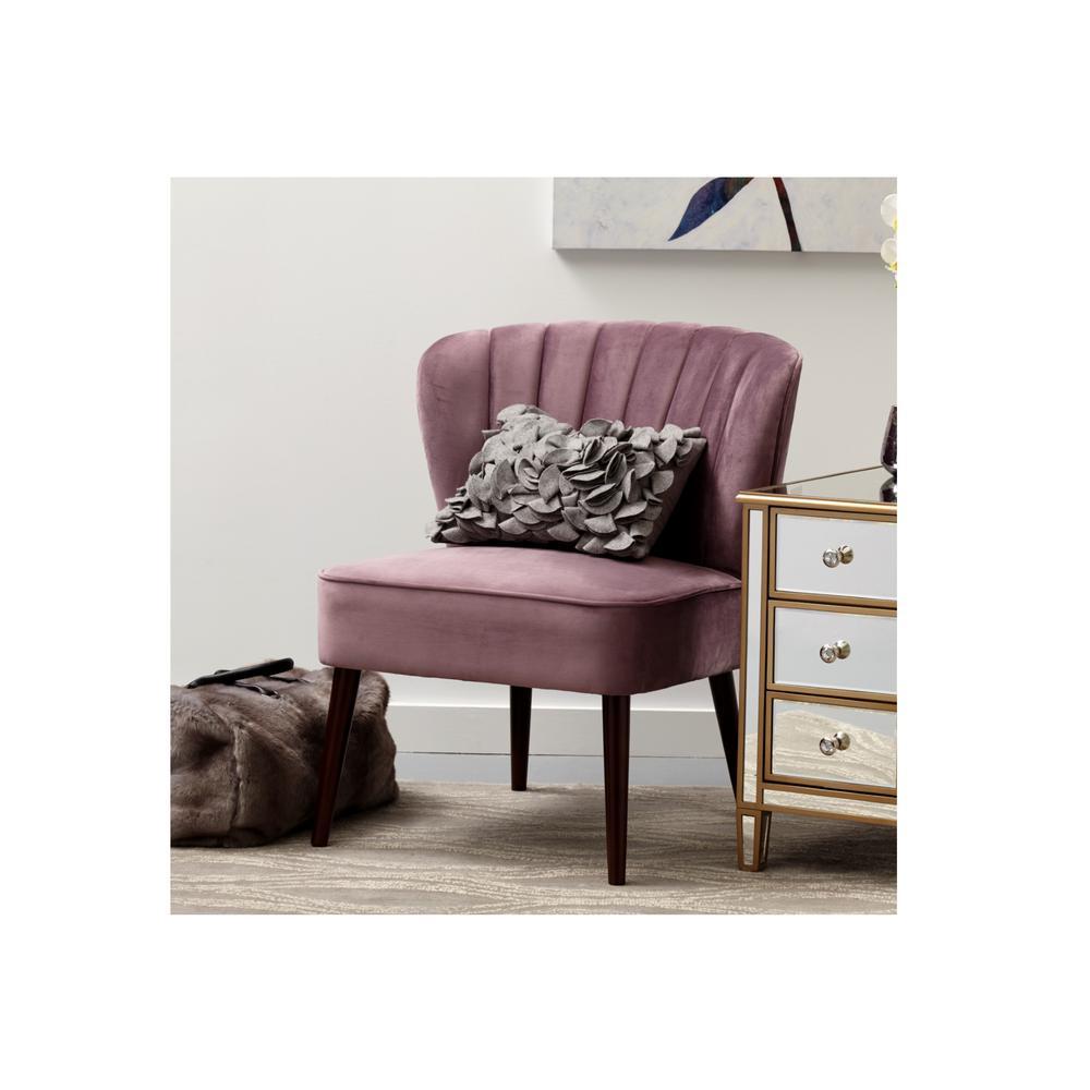 Phenomenal Pulaski Furniture Channeled Back Armless Luxor Lilac Purple Uwap Interior Chair Design Uwaporg