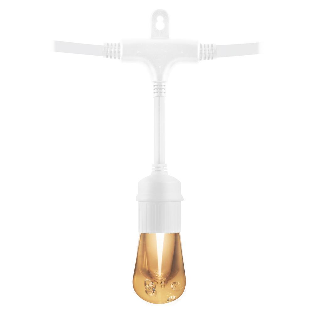 24-Bulb 48 ft. Vintage  Cafe Integrated LED String Lights, White