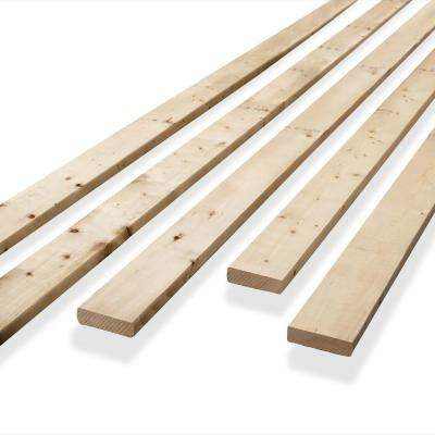 1 in. x 4 in. x 3.25 ft. Spruce/Pine/Fir Common Board Bed Slat (Actual Dimensions: 0.75 in. x 3.5 in. x 39 in.)