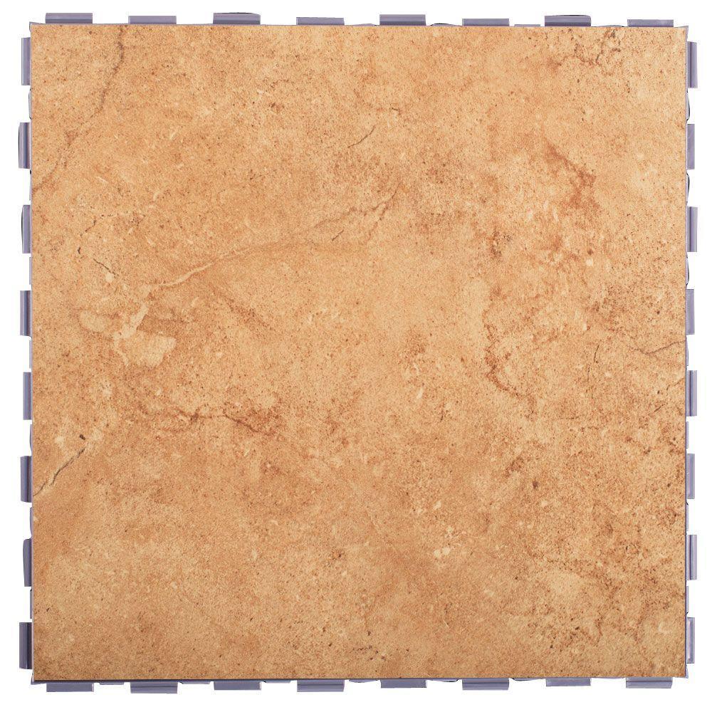 Mocha 12 in. x 12 in. Porcelain Floor Tile (5 sq. ft. / case)