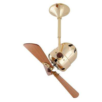 Bianca Direcional 16 in. Indoor/Outdoor Brushed Brass Ceiling Fan with Wall Control