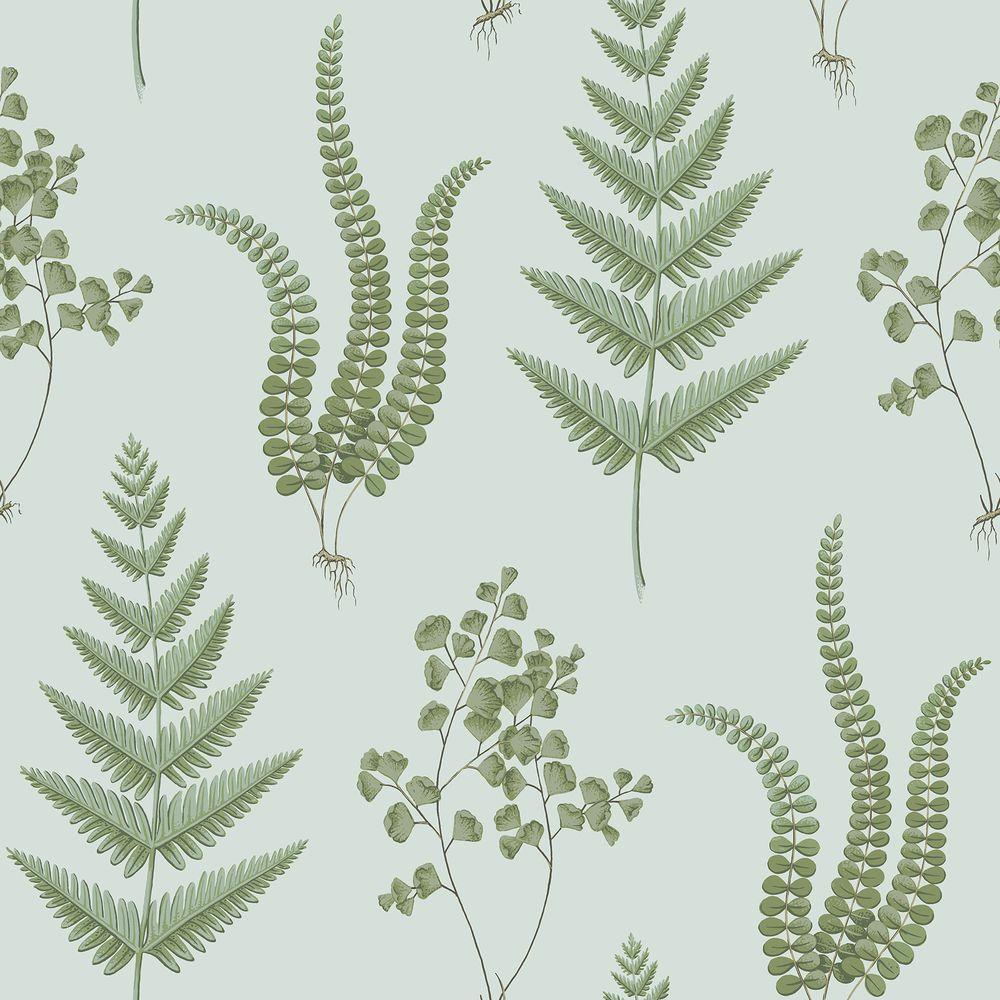 Ebele Blue Herbs Wallpaper Sample