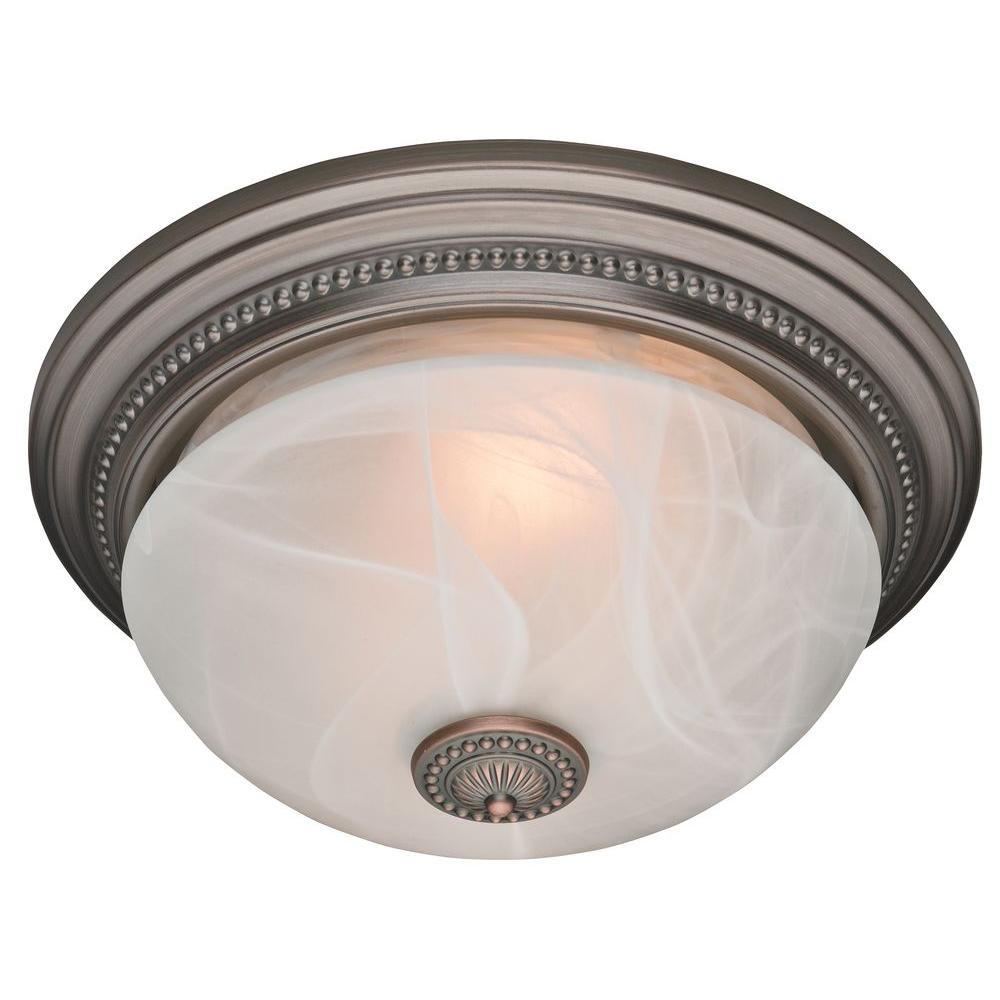 Hunter Ashbury Decorative Imperial Bronze 70 CFM Ceiling Exhaust Bath Fan with Beaded and Swirled Marble Glass-DISCONTINUED