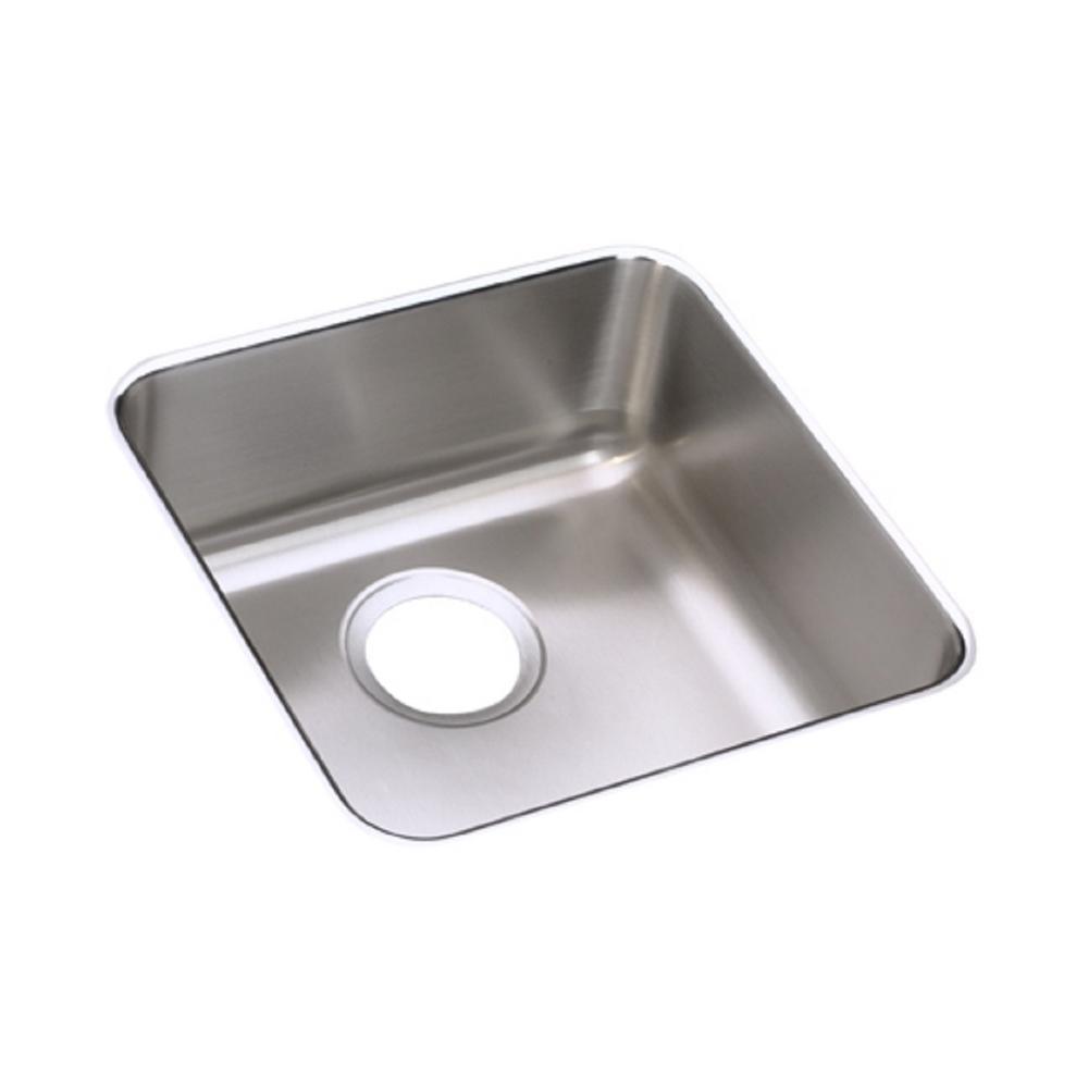 Lustertone Undermount Stainless Steel 15 in. Single Bowl Kitchen Sink