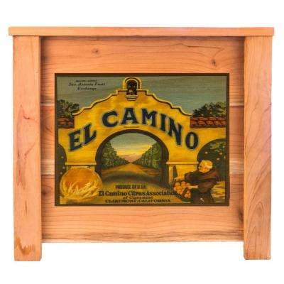 15 in. x 15 in. Deluxe Redwood Planter Box with El Camino Art