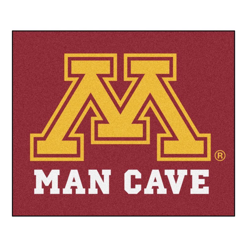 NCAA University of Minnesota Burgundy Man Cave 5 ft. x 6 ft. Area Rug