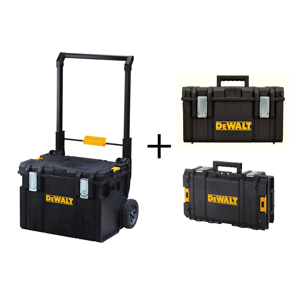 DEWALT ToughSystem DS450 22 In. 17 Gal. Mobile Tool Box, DS130 Tool Box