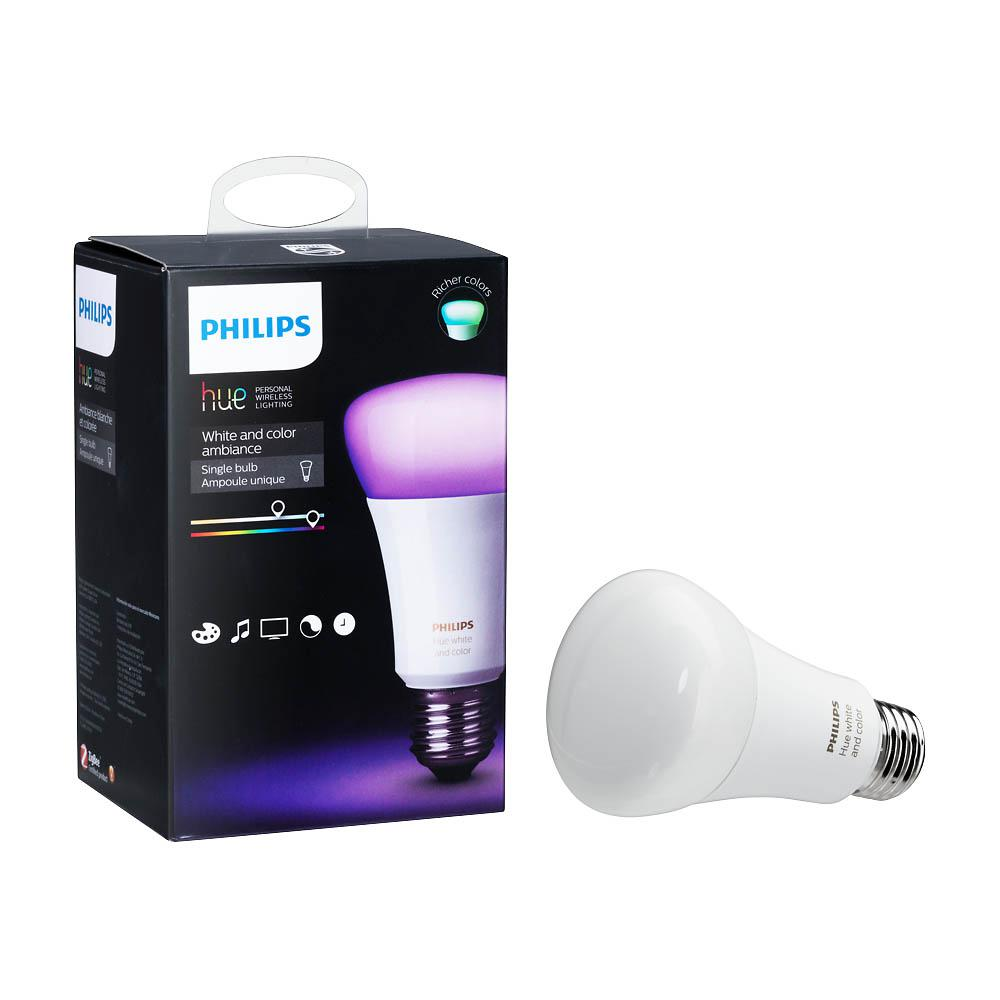 Philips hue white and color ambiance a19 led 60w equivalent dimmable philips hue white and color ambiance a19 led 60w equivalent dimmable smart wireless light bulb aloadofball Image collections