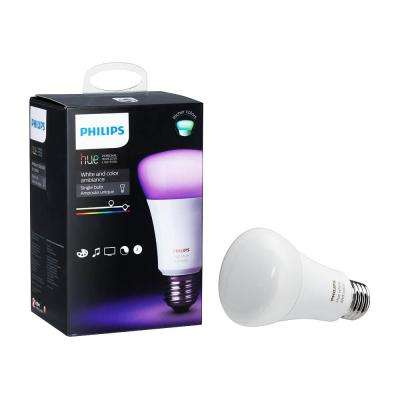 Hue White and Color Ambiance A19 LED 60W Equivalent Dimmable Smart Wireless Light Bulb