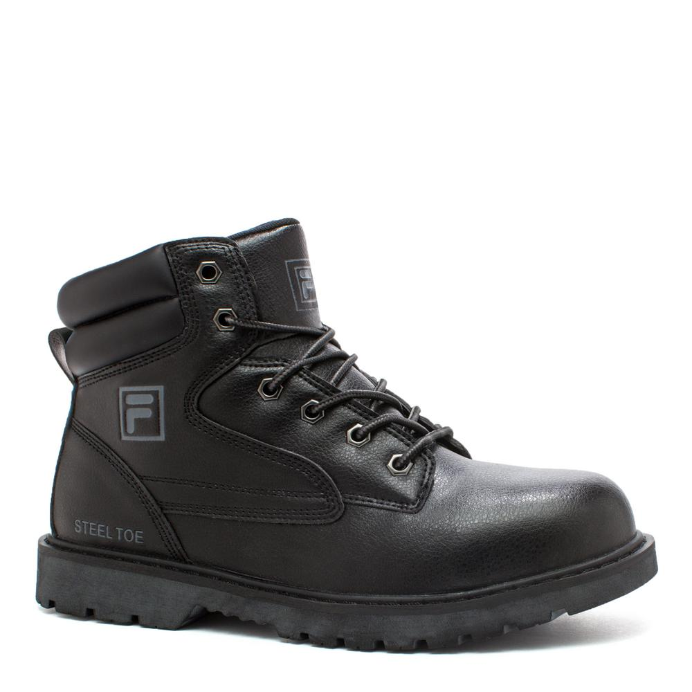74a33e8dfd5 Fila Landing Steel Men Size 11 Black Synthetic Steel Toe Work Boot