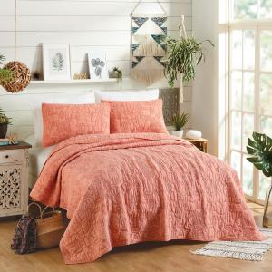 Makers Collective Hamsa Blush Full Queen Cotton Quilt Set 3 Piece By Justina Blakeney A046017ornds The Home Depot