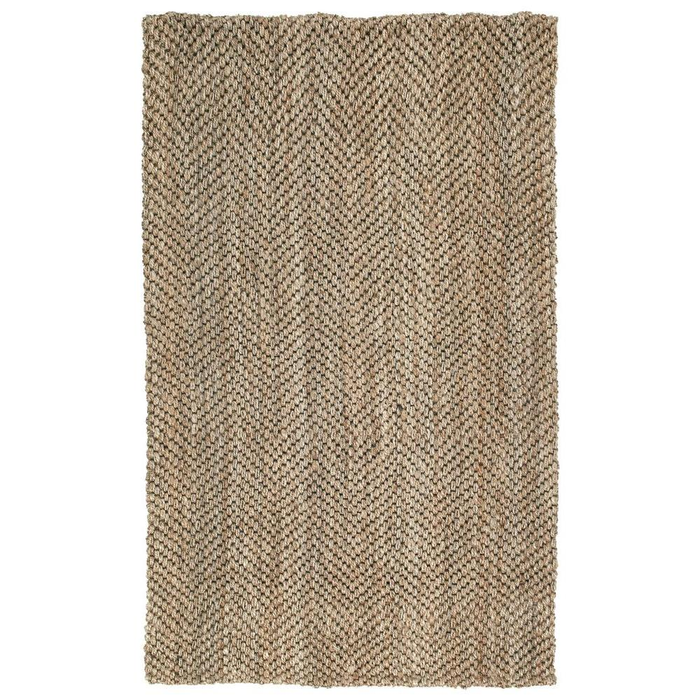 Kaleen Essential Herringbone Natural 5 ft. x 8 ft. Area Rug