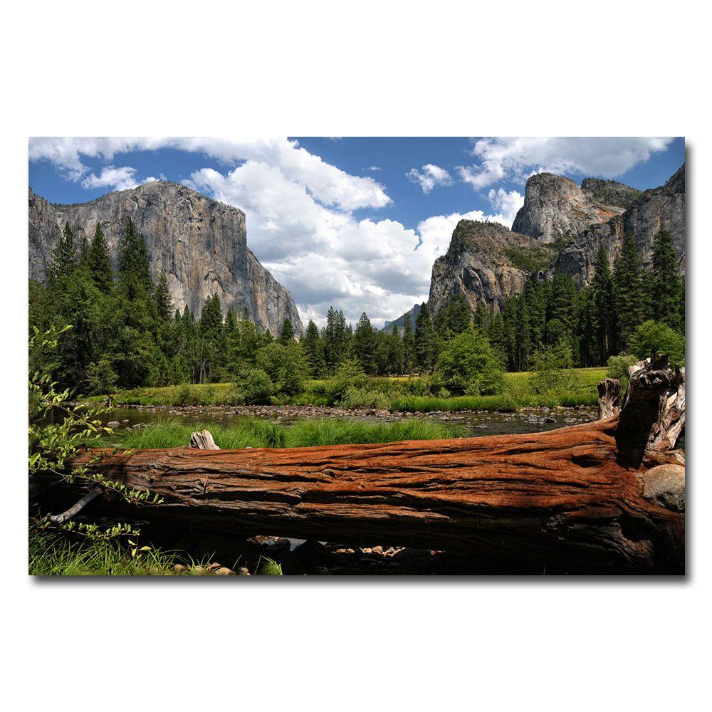 Trademark Fine Art 22 in. x 32 in. Yosemite Valley Canvas Art-DISCONTINUED