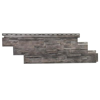 Stone DS - 13.13 in. x 41.5 in. Dry Stack Stone in Flint (25.18 sq. ft. per Box) Vinyl Siding