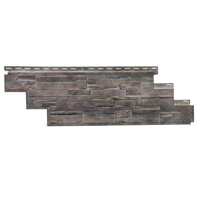 Stone DS - 13.13 in. x 41.5 in. Dry Stack Stone in Flint (25.18 sq. ft. per Box) Plastic Panel Siding