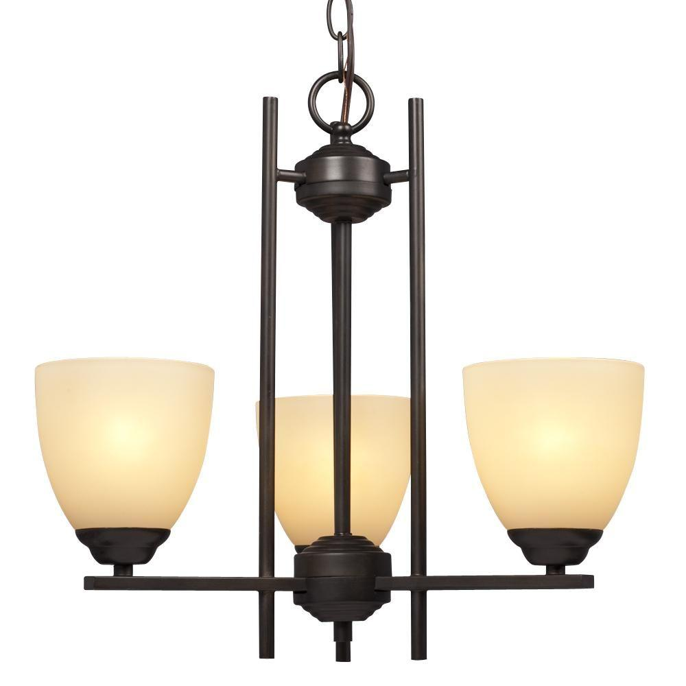 Filament Design Negron 3-Light Oil Rubbed Bronze Incandescent Chandelier