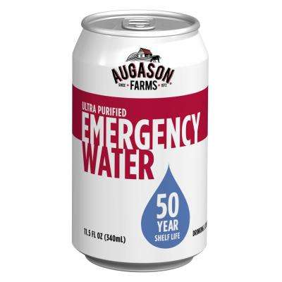 Augason Farms 11.5 oz. Ultra Purified Water Cans 50-Year Shelf Life (24-Case Pack)