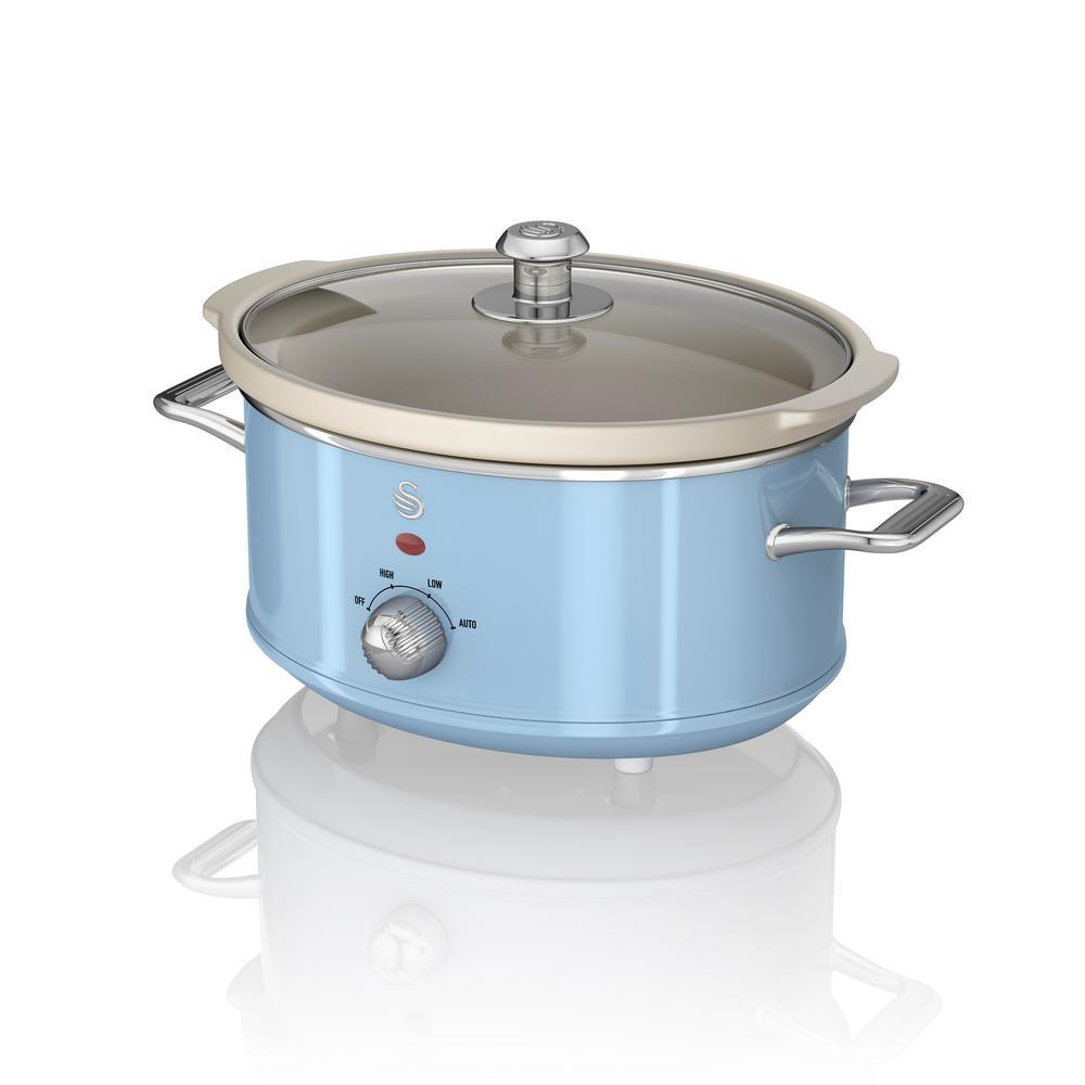 Retro 3.7 Qt. Blue Slow Cooker