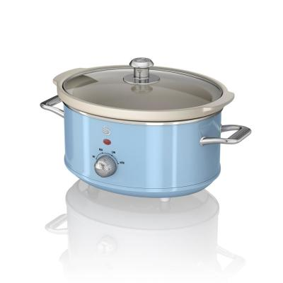 Retro 3.7 Qt. Blue Slow Cooker