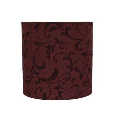 10 in. x 10 in. Red Drum/Cylinder Lamp Shade