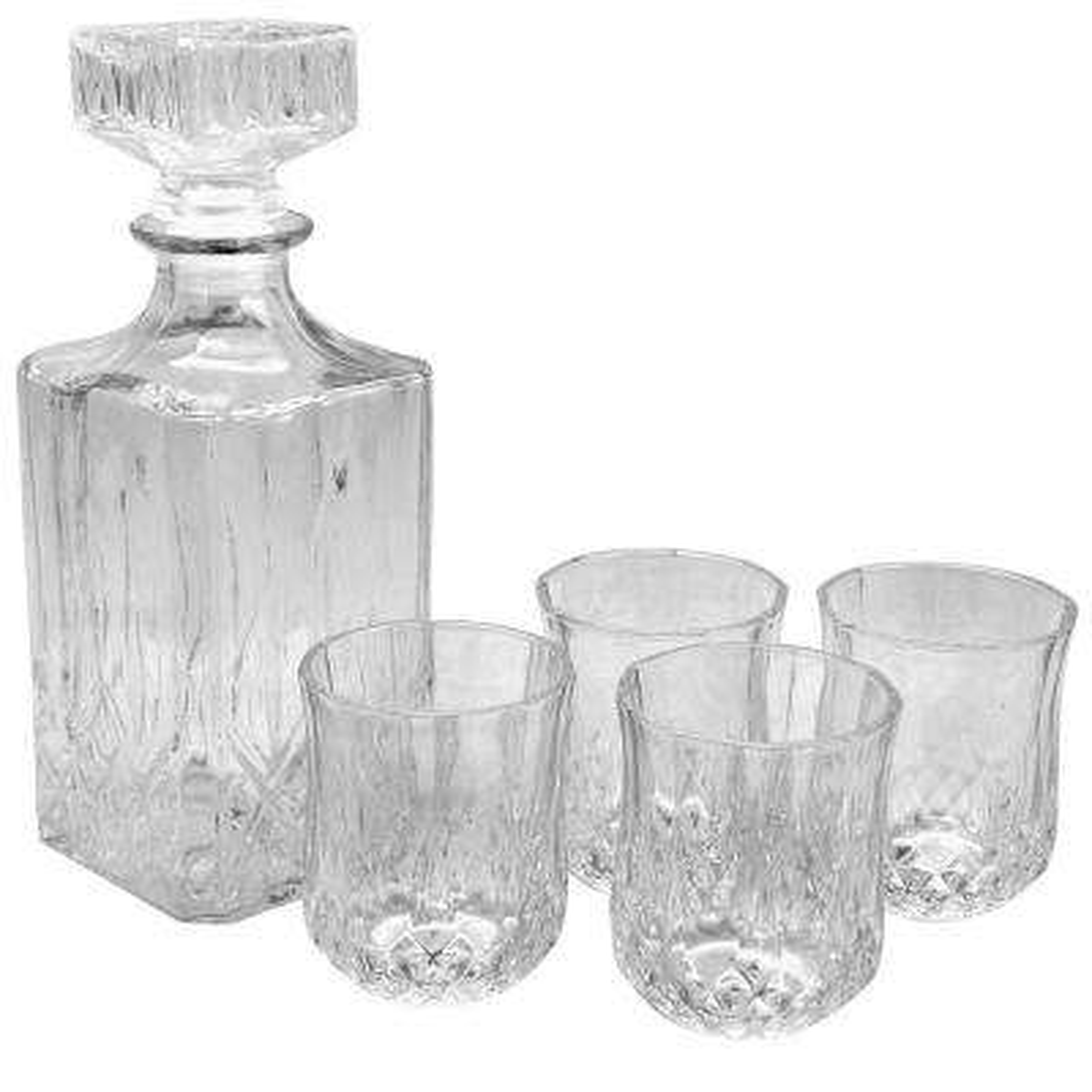 Jewelite 5-Piece Glass Decanter Set