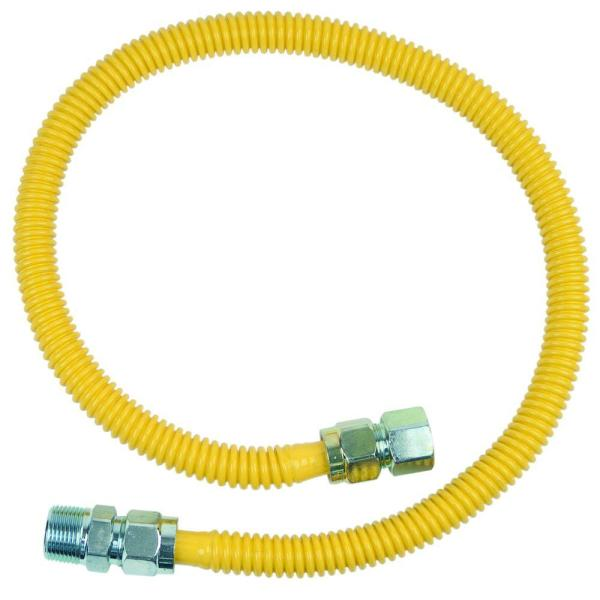 ProCoat 3/4 in. FIP x 3/4 in. MIP x 36 in. Stainless Steel Gas Connector 5/8 in. O.D. (125,000 BTU)