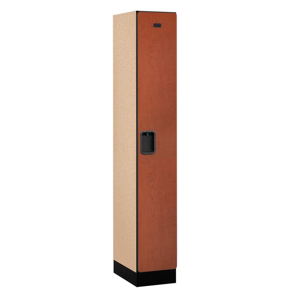 Salsbury Industries 31000 Series 12 in. W x 76 in. H x 18 in. D Single Tier Designer Wood Locker in Cherry