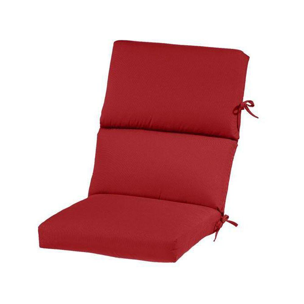Home Decorators Collection Sunbrella Jockey Red Outdoor Dining Chair Cushion