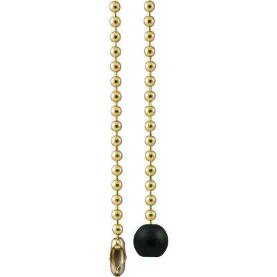 3 ft. Brass and Wooden Ball Beaded Chain