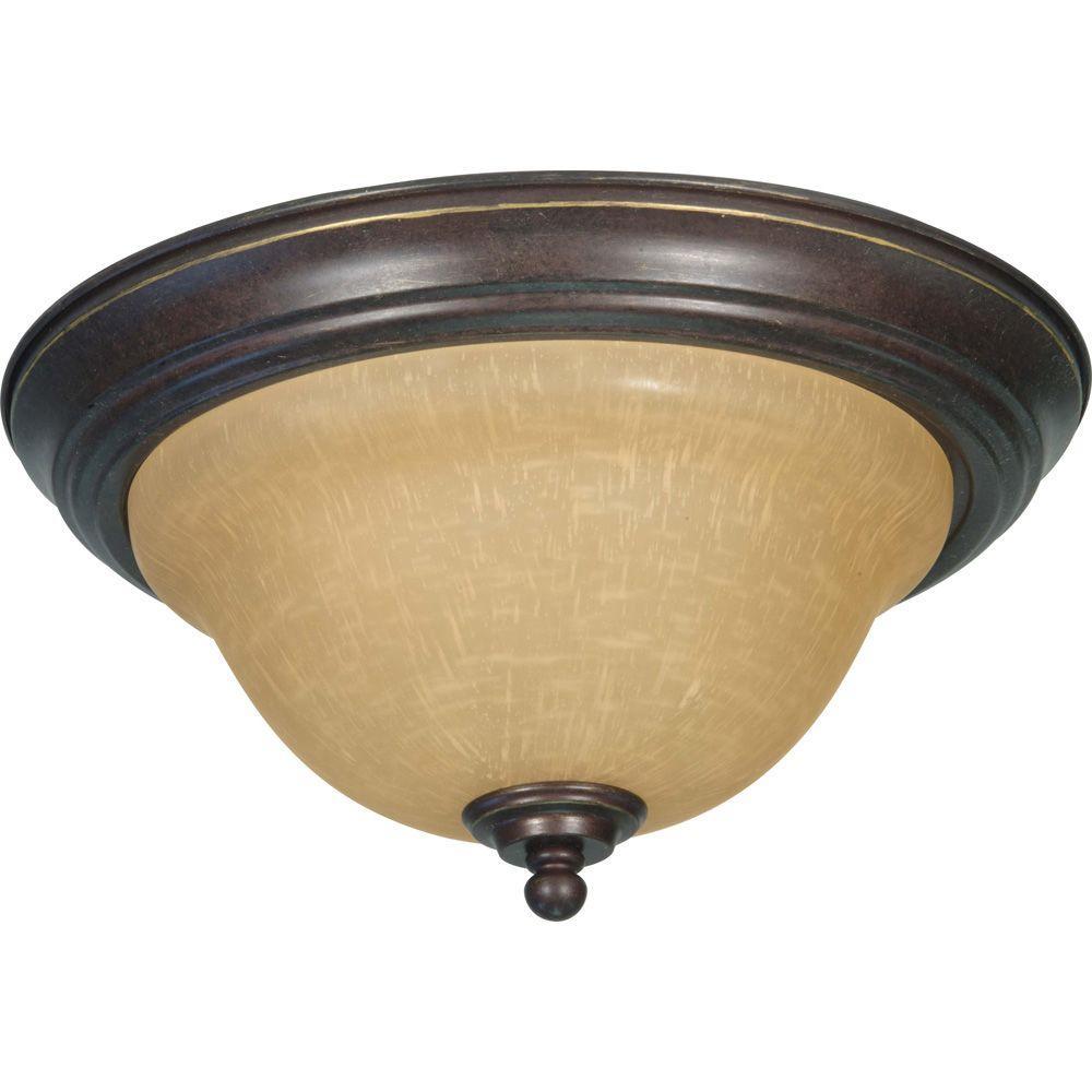 amax lighting 2625. Glomar Adria Concord 2-Light Sonoma Bronze Flushmount Amax Lighting 2625 T
