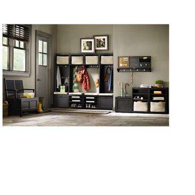 Mudroom 20 in. W x 15 in. H Wood Worn Black Upper Cabinet