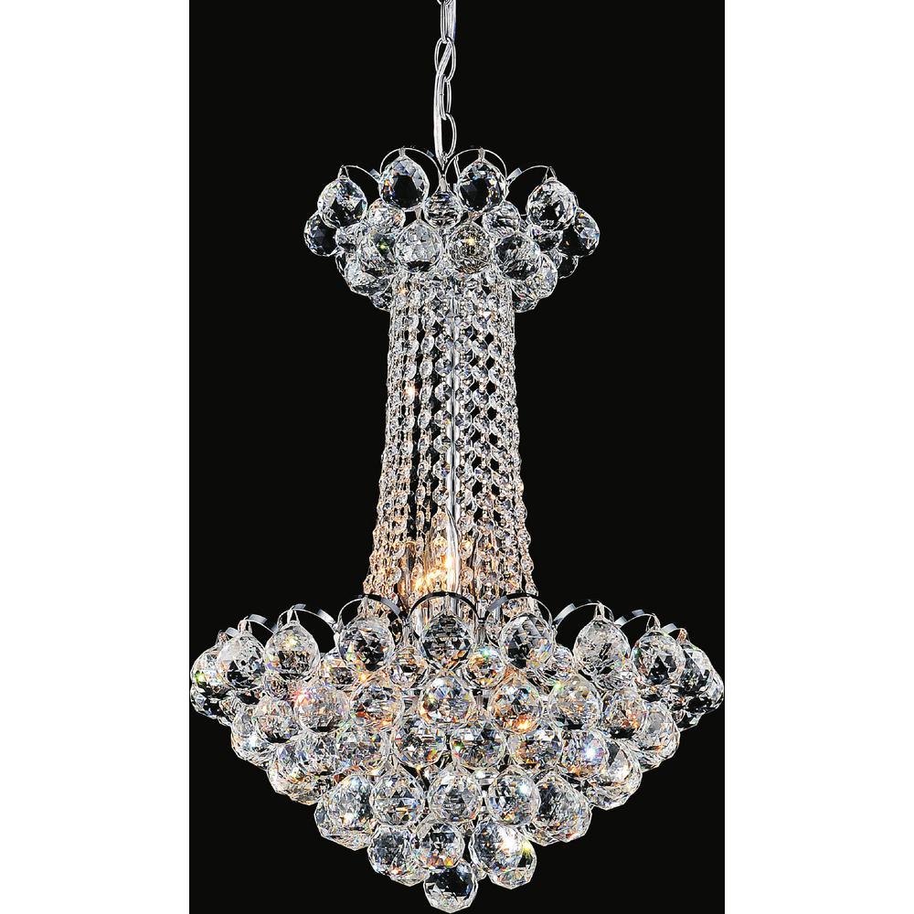 CWI Lighting Glimmer 11-light chrome chandelier