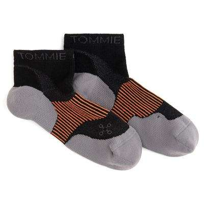 9-11.5 Black Men's Athletic Ankle Sock