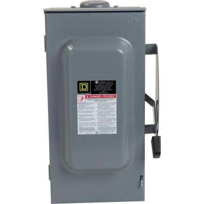 100 Amp 240-Volt 3-Pole 3-Phase Non-Fuse Outdoor General Duty Safety Switch