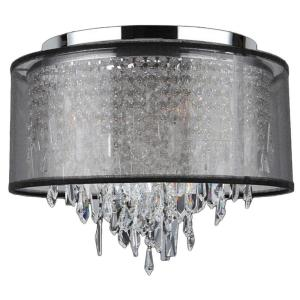 Worldwide Lighting Tempest Collection 5-Light Chrome Crystal Ceiling Light with Black... by Worldwide Lighting