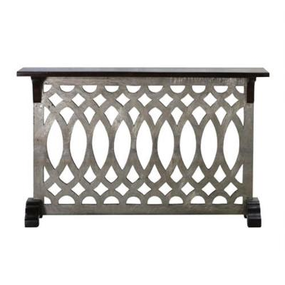 Argentato Silver and Natural Accent Table