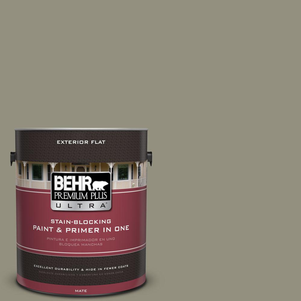 1-gal. #N350-5 Muted Sage Flat Exterior Paint