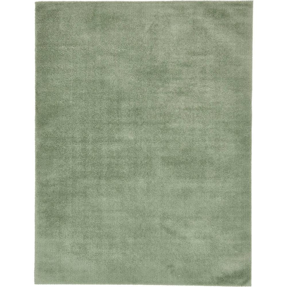 Unique Loom Studio Solid Shag Sage Green 9' X 12' Rug