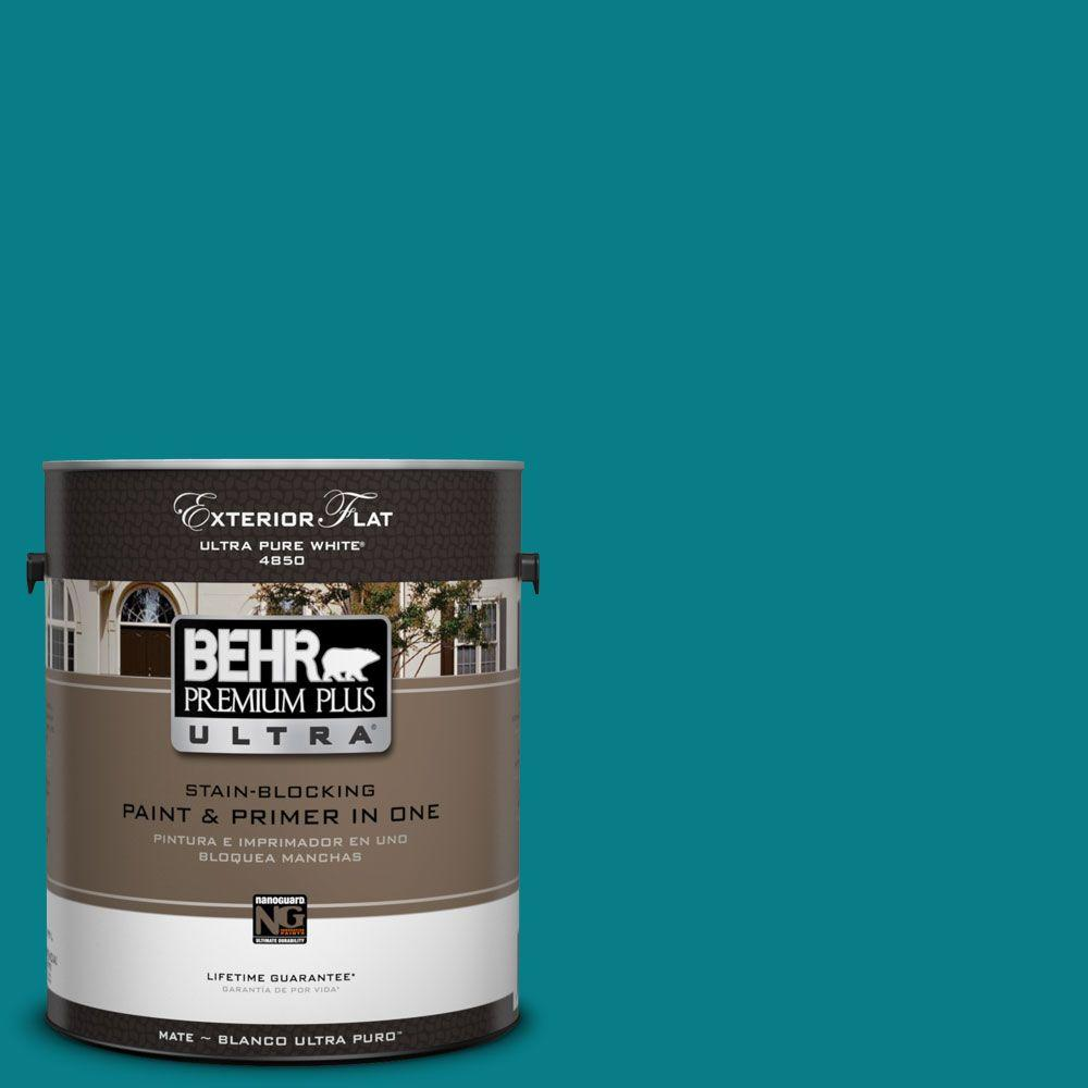 BEHR Premium Plus Ultra 1-Gal. #UL220-1 Caribe Flat Exterior Paint